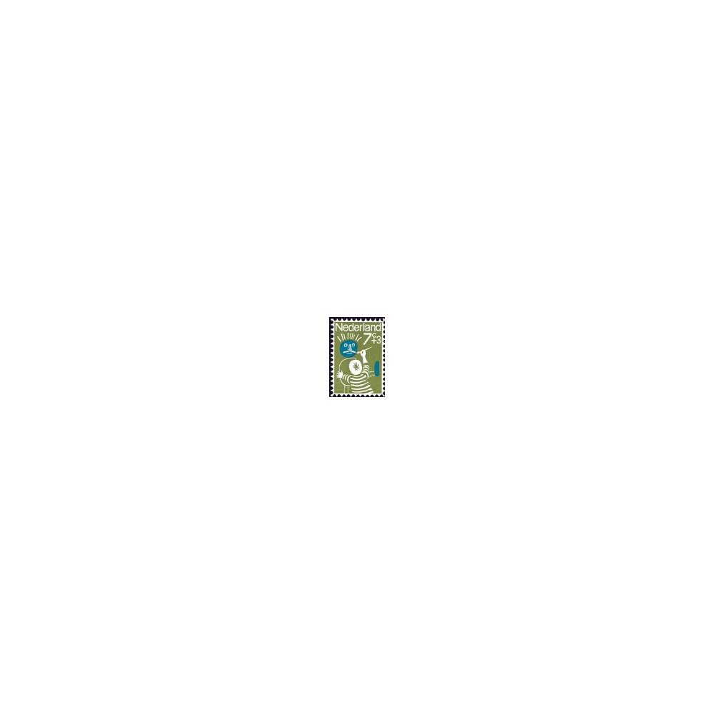 1964 Kinderbedankkaart Kinderzegels