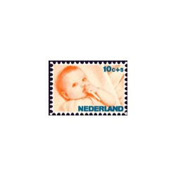 1966 Kinderbedankkaart Kinderzegels
