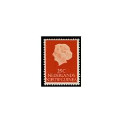 1954-1960 Nieuw Guinea Koningin Juliana.