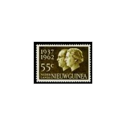 1962 Nieuw Guinea Jubileumzegel.