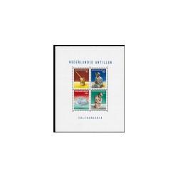 1962 Ned. Antillen Blok Cultuurzegels.