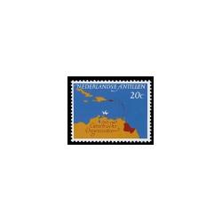 1964 Ned. Antillen Herdenkingszegel Caraïbische Raad.
