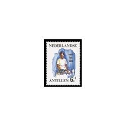 1966 Ned. Antillen Kinderzegels.