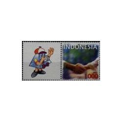 2003 Indonesië als persoonlijke postzegels met tab