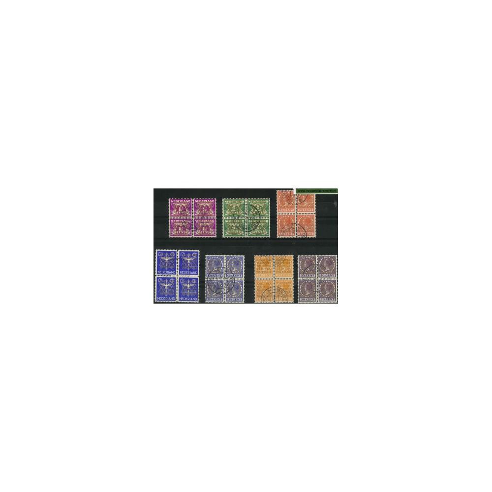 1934-1938 Nederland Dienstzegels | Opdruk COUR PERMANENTE DE JUSTICE INTERNATIONALE in goud op zegels van de uitgifte 1926-1935,