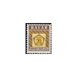 1975 Indonesië Dienstzegels - Uitgegeven 1 april 1975, met inschrift BAYAR. Jaartal 1975 in vijfhoek