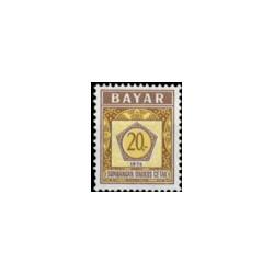 1976 Indonesië Dienstzegels - Uitgegeven 16 mei 1976, met inschrift BAYAR. Jaartal 1976 onderaan