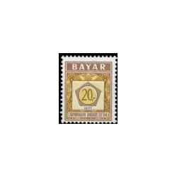 1977 Indonesië Dienstzegels - Uitgegeven 16 juli 1977, met inschrift BAYAR. Jaartal 1977 onderaan