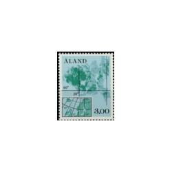 1984 Åland postzegel | Landkaart