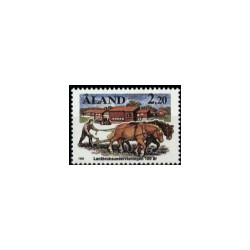 1988 Aland Zegel 'Agrarisch Onderwijs'
