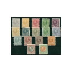 1873-1889 Suriname Postzegels | Koning Willem III
