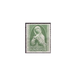 1952 Duitsland (BRD) zegel 'Germanisches Museum Nürnberg. Madonna'