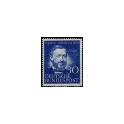 1952 Duitsland (BRD) zegel 'Philipp Reiss. Wz. 3'
