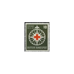 1953 Duitsland (BRD) zegel 'Rotes Kreuz. Wz. 3'