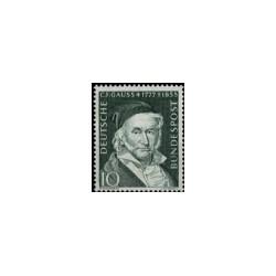 1955 Duitsland (BRD) zegel 'Carl Friedrich Gauss. Wz. 4. 100. Todestag'