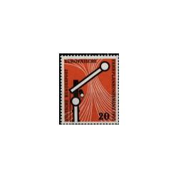 1955 Duitsland (BRD) zegel 'Europäische Fahrplankonferenz. Wz. 5'
