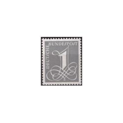 1955 Duitsland (BRD) zegel 'Freimarken-Erg.-Wert. Wz. 5'