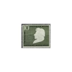 1956 Duitsland (BRD) zegel 'Heinrich Heine. 100. Todestag. Wz. 4'