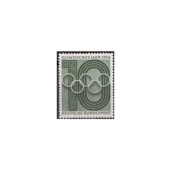 1956 Duitsland (BRD) zegel 'Olympisches Jahr. Wz. 5'