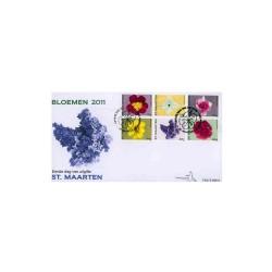 2011 Sint-Maarten FDC op 2 enveloppen - Bloemen