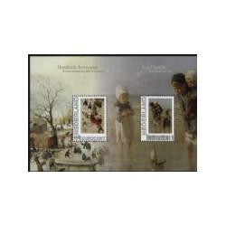 2010 Persoonlijke postzegel Geschenk velletjes: H. Averkamp en J. Israëls