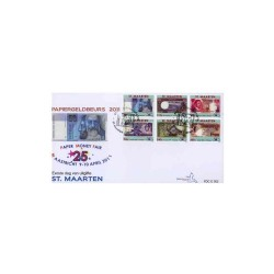 2011 Sint-Maarten FDC Papiergeldbeurs Maastricht