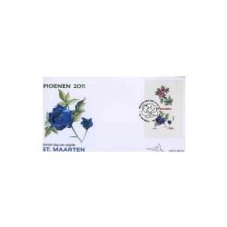 2011 Sint-Maarten FDC Blok Peony