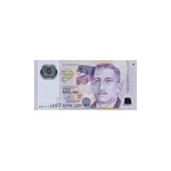 Singapore2Dollars (plastic)ND 1905