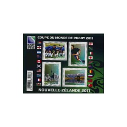 2011 Frankrijk zegels in blad - WK Rugby