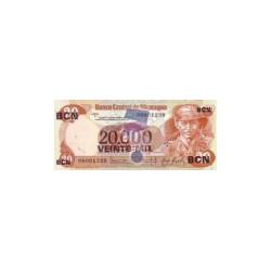 Nicaragua20.000CordobasND 1987