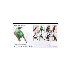 2012 Sint Maarten FDC op 2 enveloppen Vogels