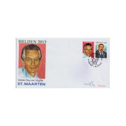 2013 Sint Maarten FDC Helden 2013