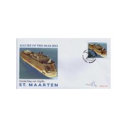 2013 Sint Maarten FDC Cruiseschip Allure of the seas