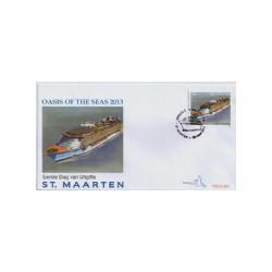 2013 Sint Maarten FDC Cruiseschip Oasis of the seas