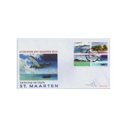 2013 Sint Maarten FDC Uitzichten Sint Maarten 2013