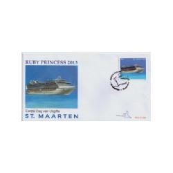 2013 Sint Maarten FDC Cruiseschip Ruby princess 2013