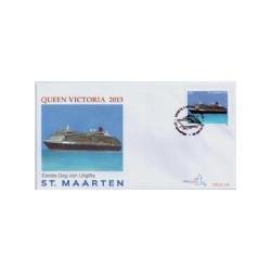2013 Sint Maarten FDC Cruiseschip Queen Victoria 2013