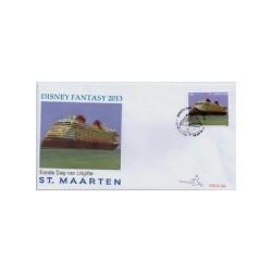 2013 Sint Maarten FDC Cruiseschip Disney Fantasy