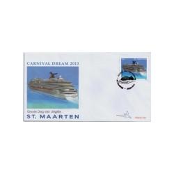 2013 Sint Maarten FDC Cruiseschip Carnival Dream