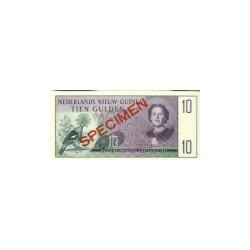 Nieuw-Guinea 10 gulden 1954 specimen