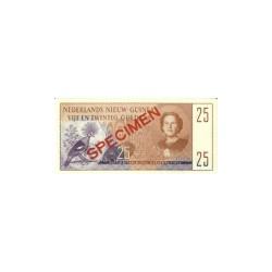 Nieuw-Guinea 25 gulden 1954 specimen