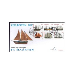 2013 Sint Maarten FDC   Zeilschepen