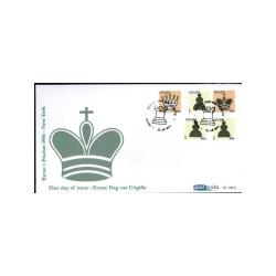 2011 Aruba FDC op 3 enveloppen | Schaken Byrne-Fisher 1956