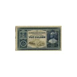 Suriname 5 gulden 1935 - 1940