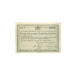 Amsterdam  2½ Gulden 1914