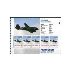 2015 Nederland persoonlijke postzegels Vel | Pionieren in de lucht, Douglas DC-3 Dakota