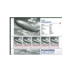 2015 Nederland persoonlijke postzegels Vel | Pionieren in de lucht, LZ129 Hindenburg