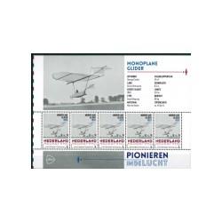 2015 Nederland persoonlijke postzegels Vel | Pionieren in de lucht, Monoplane Glider