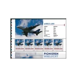 2015 Nederland persoonlijke postzegels Vel | Pionieren in de lucht, Airbus A380