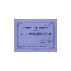 Horst 2,5 gulden 1914